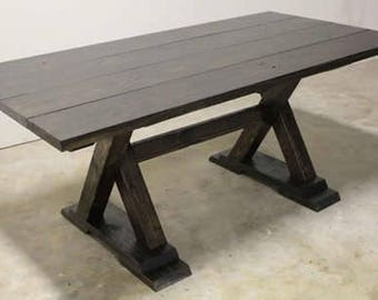 Custom Reclaimed Wood Dining Table with FREE BENCH