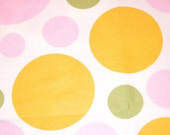 Dream Dot Pink-Yellow-Green by Free Spirit