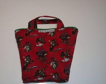 Cowboy theme western lassoo casual handbag