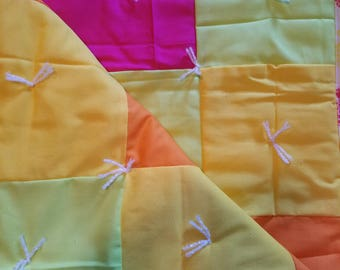 Pineapple themed baby quilt