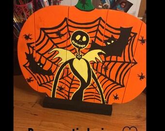 Hand painted GLOW in the dark pumpkin