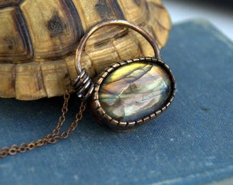 Hand-Sculpted Labradorite Necklace