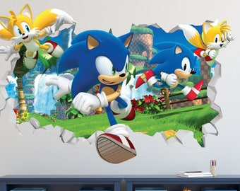Captivating Sonic The Hedgehog Speed Wall Decal   Sonic The Hedgehog Smashed Sticker    Kids Games 3D Part 26