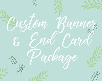 Custom YouTube Channel Banner & End Card // PACKAGE