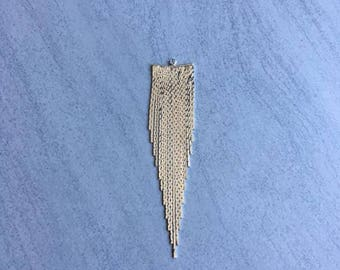 Pendant silver plated snake chain 80mm