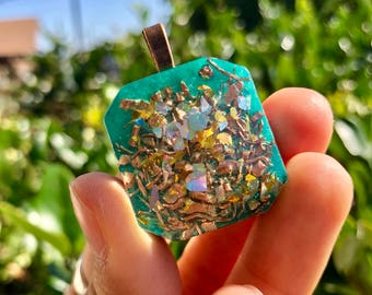 Orgone Pendant - Turquoise - Self Care - Handmade - EMF Protection