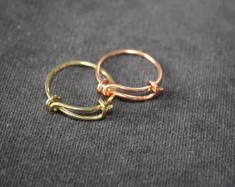 Ring adjustable brass ring