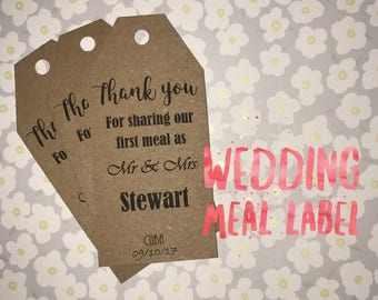 Thank You Cutlery Wedding Day - Labels