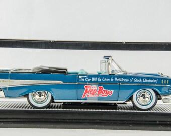 Rare M2 Machines Auto Drags 1957 Chevrolet Bel Air Convertible 1/24 Diecast