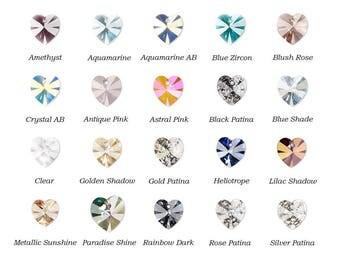 1 Swarovski® Crystal Xilion Heart Pendant 14x14mm Drop 6228, 1 xilion heart swarovski crystal 6228 pendant 14x14mm, swarovski heart 6228.