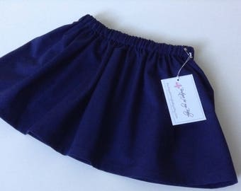 Navy blue Skirt / Baby Skirt / Girl Skirt / Toddler Skirt / Girl clothes / Baby Girl skirt / Baby Girl Outfit /  Girl Outfit / Navy blue