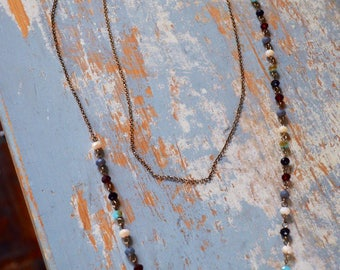 Colorful Double-Strand Necklace