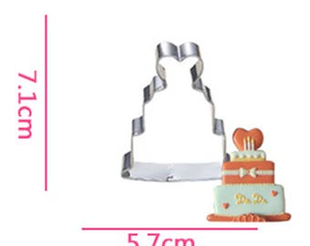 Love Cake Cookie Cutter- Fondant Biscuit Mold - Pastry Baking Tool Set