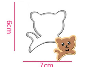 Kitty Animal Cookie Cutter - Cat Fondant Biscuit Mold - Pastry Baking Tool Set
