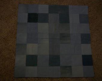 Denim Blue Baby Blanket Quilt
