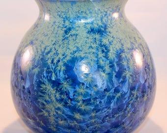 Porcelain Vase. Handmade. Wheel Thrown. Crystal Glazed.