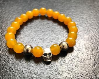 Skull and natural beads