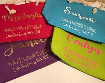 Custom Tote Bag, Canvas Tote, Rope Handle Tote, Beach Bag