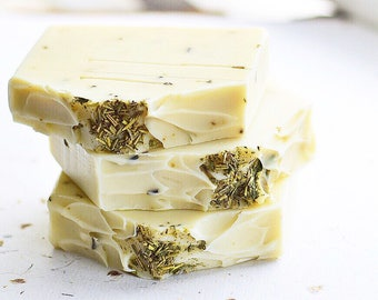 DELIGHTFUL | Cold Process Cleansing Bar Soap | Lime & Rosemary Essential Oils