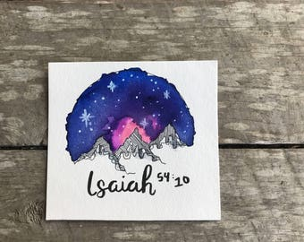 Galaxy Mountains with Isaiah Verse small
