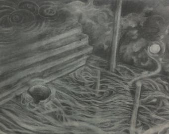 Abstract Landscape ORIGINAL DRAWING