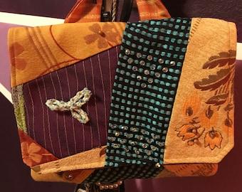 Platchwork Clutch- PlatchW Collection #01 - Handmade embroidery