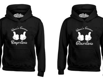 Couple Hoodies World's Greatest Boyfriend, World's Greatest Girlfriend Couples Cute Matching Love Couples Valentine's Day Gift