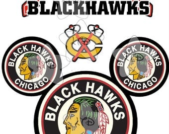 Chicago BlackHawks Iron On Transfer