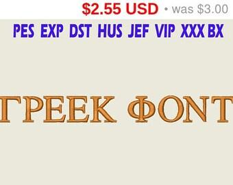 Sale 15% GREEK Font Embroidery/ GREEK Font embroidery design/ INSTANT download