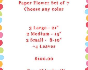 Paper Flower Set of 7