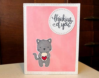 """Card """"Thinking of You"""" / Love Card / Friendship Card"""