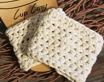 Coffee Cozy, Coffee Cup Cozy, Cup Cozy, Crochet Coffee Cozy, Cozy Creations, Coffee Sleeve, Cup Sleeve, Crochet Cup Cozy, Crochet Cozy