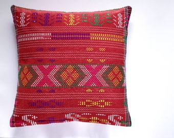 decorative pillow | 16x26 | 20x20 | 26x26 | red green | throw pillow | pillow cover | cushion cover | home decor | christmas | gift | woven