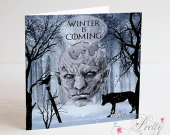 Game of Thrones White Walker -Winter is Coming Birthday Card