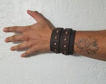 Game of Thrones leather bracelet/cuff /cosplay /Ser Jorah inspired/ leather bracelet/wrist cuff
