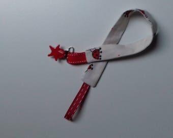 Star pattern ladybugs pacifier
