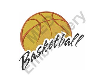 Basketball - Machine Embroidery Design