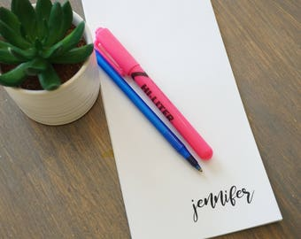 Personalized Name- Notepad
