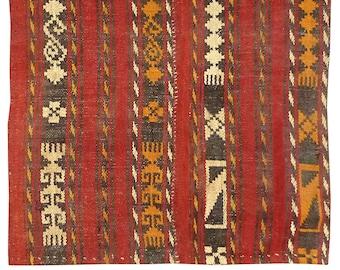 Rare Vintage  Uzbek Lakay Home Decor Woolen Hand Woven rustic animal zoomorphic 934