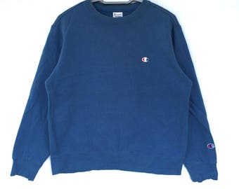 vintage champion small logo sweatshirt size large