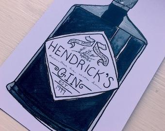 Hendrick's Gin Print