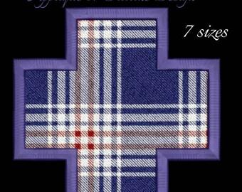 Cross Frame border applique Monogram font Embroidery Design designs machine digital instant download patternin the hoop file t-shirt symbols