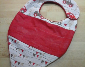 Cute personalized bandana bib in coated cotton (waterproof) and cotton Terry