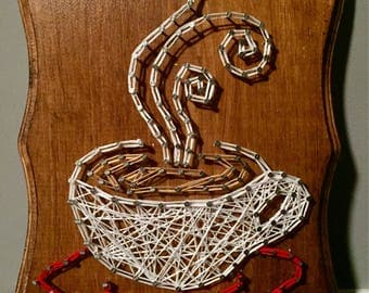 Coffee String Art Wall Decor