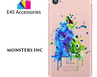 MONSTERS INC Disney Watercolour Hard Case for iPhone 5S 5 SE, iPhone 6S 6 or iPhone 7