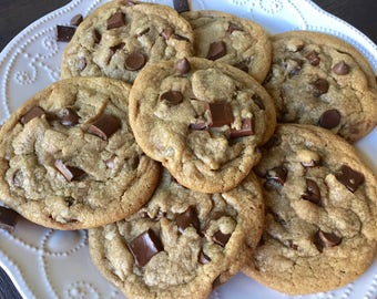 Ultimate Chocolate Chunk - 1 Dozen (over 2 lbs.) Gourmet Bakery Size Cookies