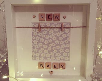 Baby Scan Frame/Personalised Baby Gift/Nursery Gift/Nursery Frame/Personalised gift/ /Baby Shower Gift