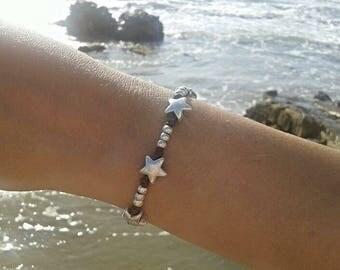 Stars bracelet -  vegan