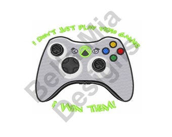 Video Games - Machine Embroidery Design, Play Video Games