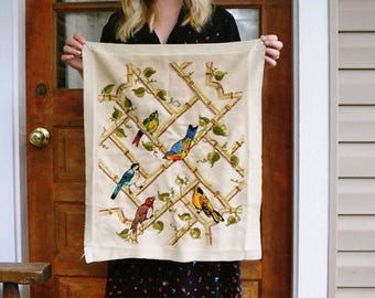 Hand Embroider Bird Art